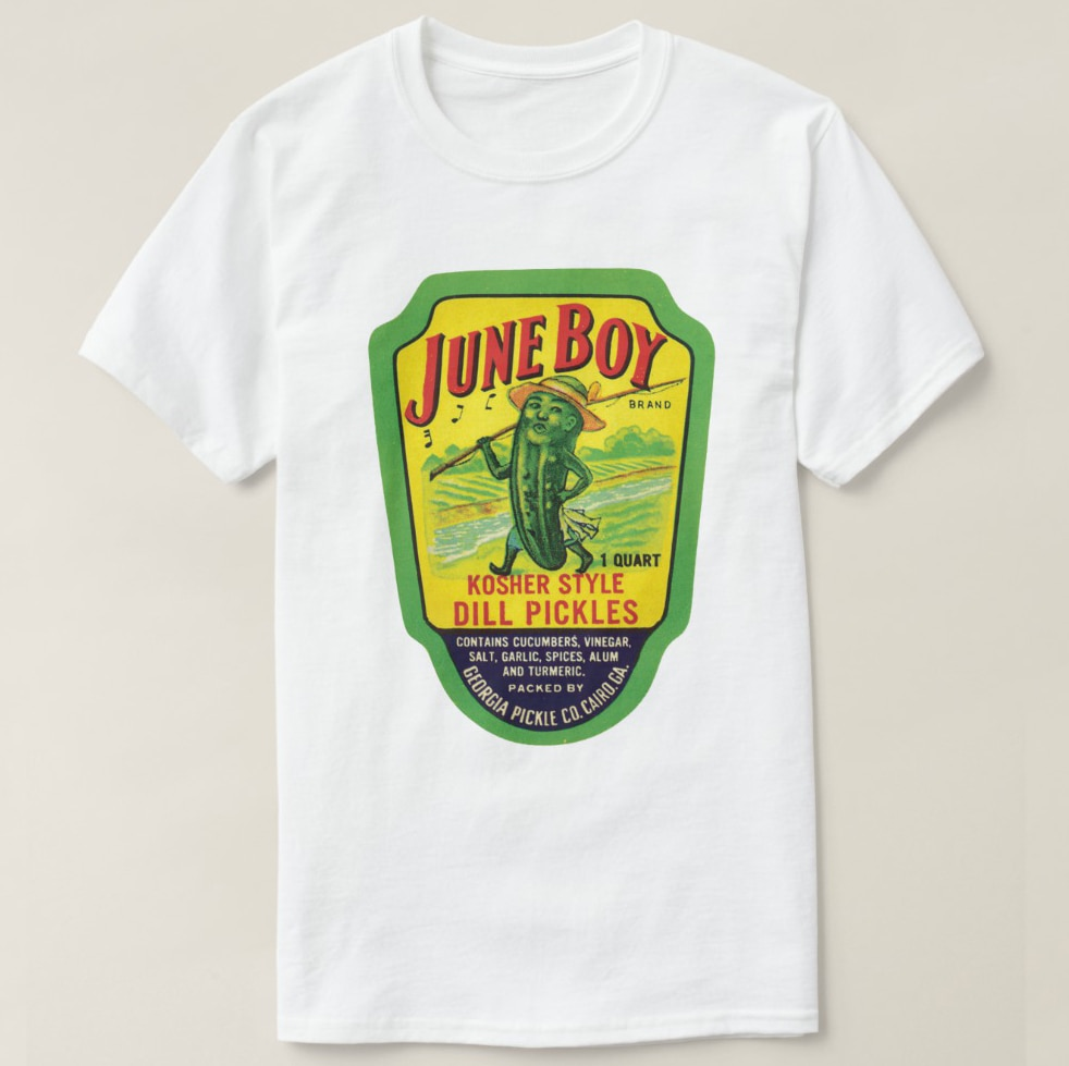 Camiseta estampada 2019 para hombre, de manga corta Camiseta de algodón, camiseta de manga corta Vintage Kosher Dill Pickles, camiseta para mujer