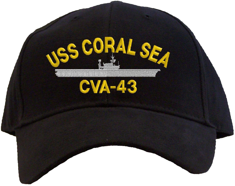 С принтом ВМС США кораллового моря CVA-43 вышитые Бейсбол Кепки-в наличии 7 цветов шляпа