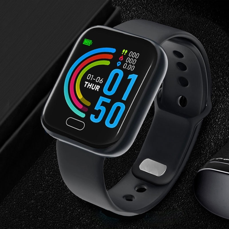 New the Mens' Watches Women Wristwatch Pedometer For Android iOS Blood Pressure Heart Rate Fitness T