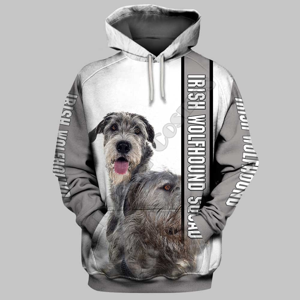 Irish Wolfhound 3D Hoodies Printed Pullover Men For Women Funny Sweatshirts Sweater Animal Drop Shipping 15