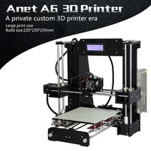 Anet A6L A8 Kit imprimante 3D grande taille 220*220*250mm/220*220*240mm grande taille dimpression Hotbed avec Filaments + carte SD 8G/16G + outils