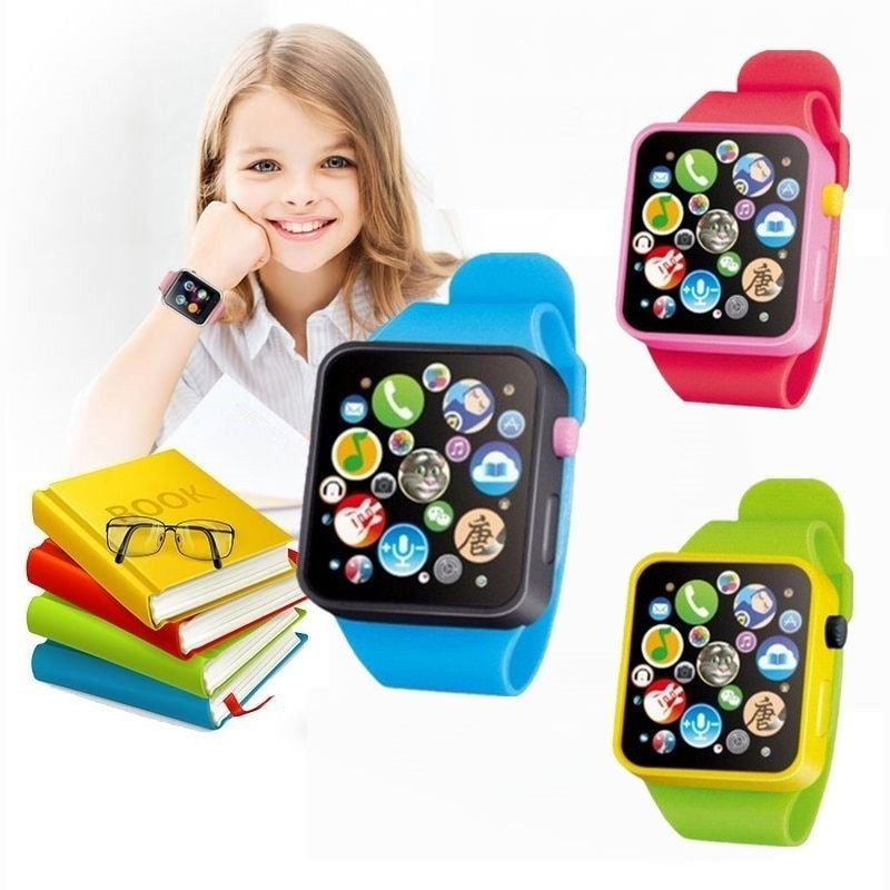 Children Kids Early Education Toy Wrist Watch 3D Touch Screen Music Smart Teaching Baby Birthday Gif