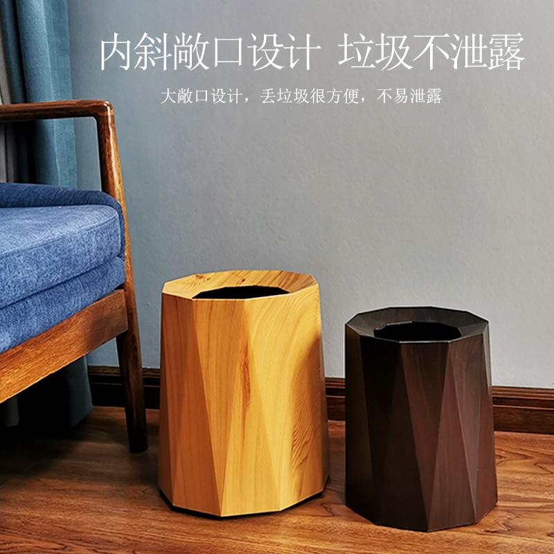Nordic Modern Trash Bin Large Luxury Plastic Toilet Bin Bedroom Creative Trash Can Living Room Home Prullenbak Waste Bin DJ60LT enlarge
