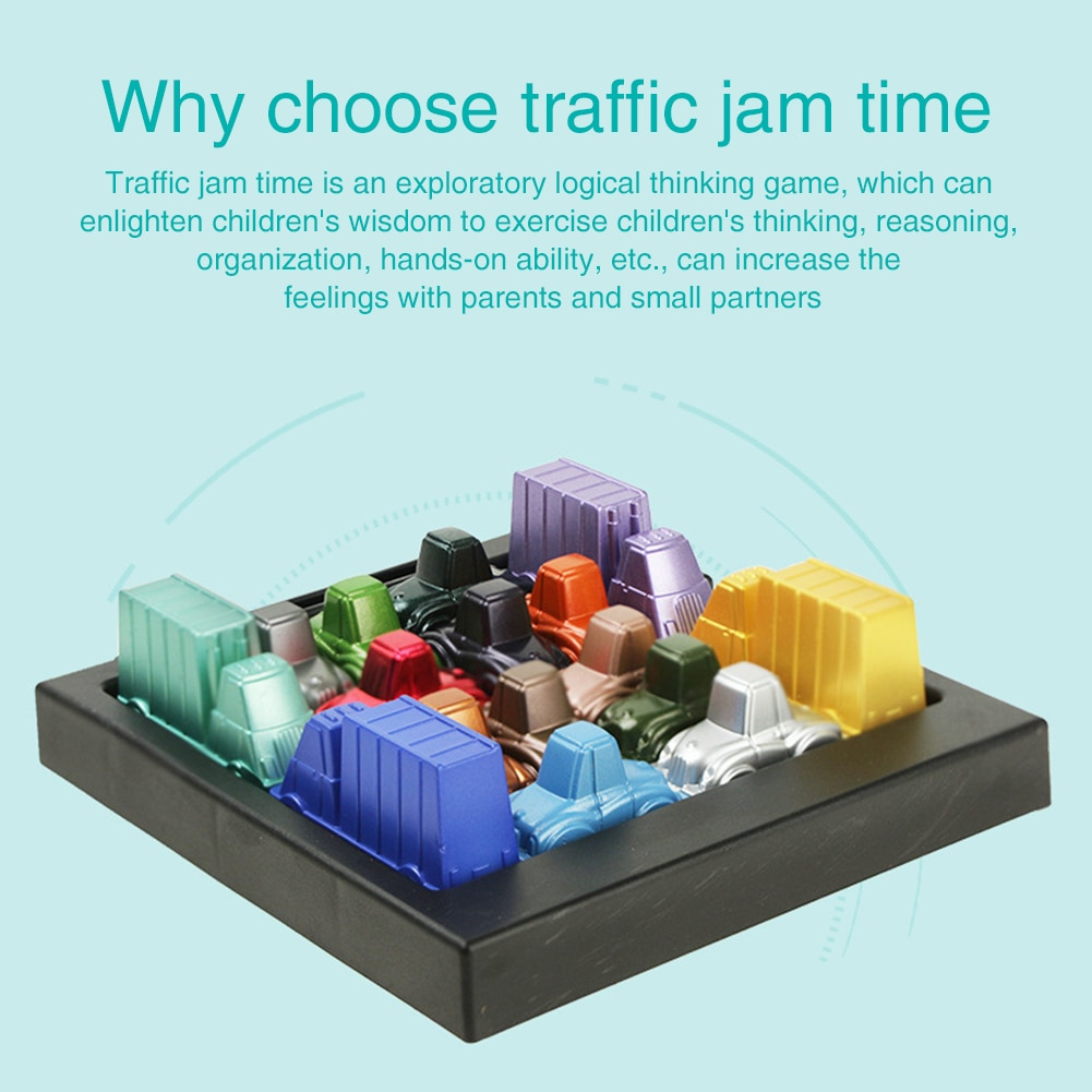 Car Run Traffic Jam Toy Parent Kids Desktop Logic Games Thinkfun Replacement Pieces Spares Children Gift With Storage Bag