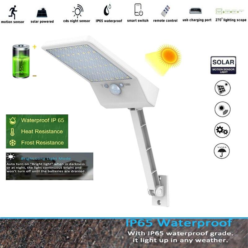 48 LED Outdoor Solar Lamp 3 Modes IP65 Waterproof Spotlight For solar Garden Lightg street wall pole