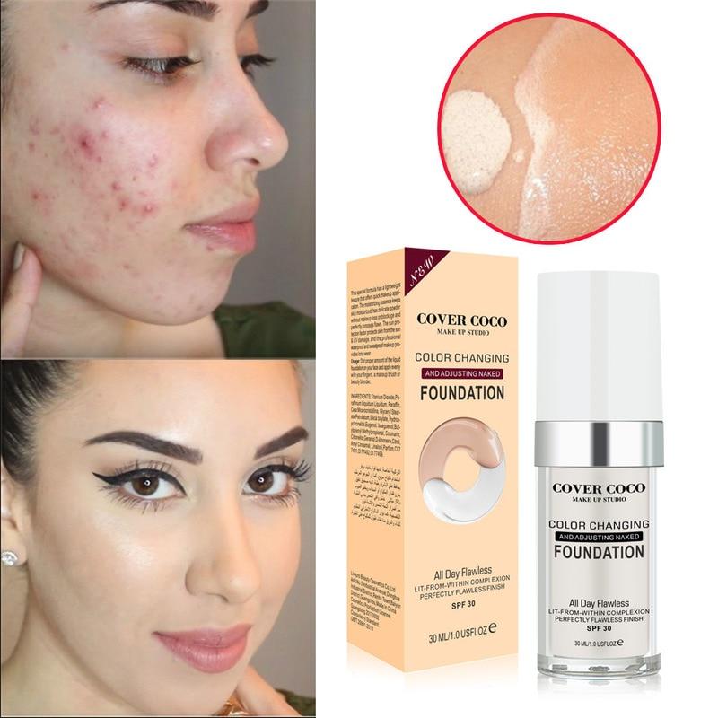 Full Skin Concealer Foundation Cream Professional Cover Blemish Dark Spot Tattoo Contour Liquid Conc