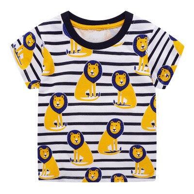 VIDMID/футболка для мальчиков футболки с короткими рукавами, топы, одежда Детские футболки с От 2 до 7 лет хлопковые футболки с изображением машинок и трактора детская одежда с рисунком динозавра