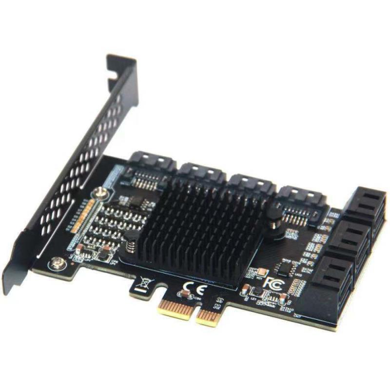 10 Port SATA III PCIe Card, PCIe SATA III Controller Card To 6GB/s Adapter Converter PCI Expansion Card Hard Disk Adapter Box kingshare ks amast2 msata to sata 3 converter adapter card