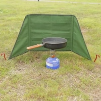 outdoor campfire windshield camping grills windscreen windproof strong wear resistant curtain wind shield camping accessorise