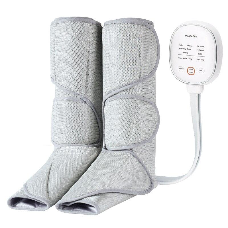 Masajeador de piernas de belleza de carga Meridiano de masaje multisitio de presión de aire masajeador de fisioterapia eléctrica de compresión caliente de onda de aire