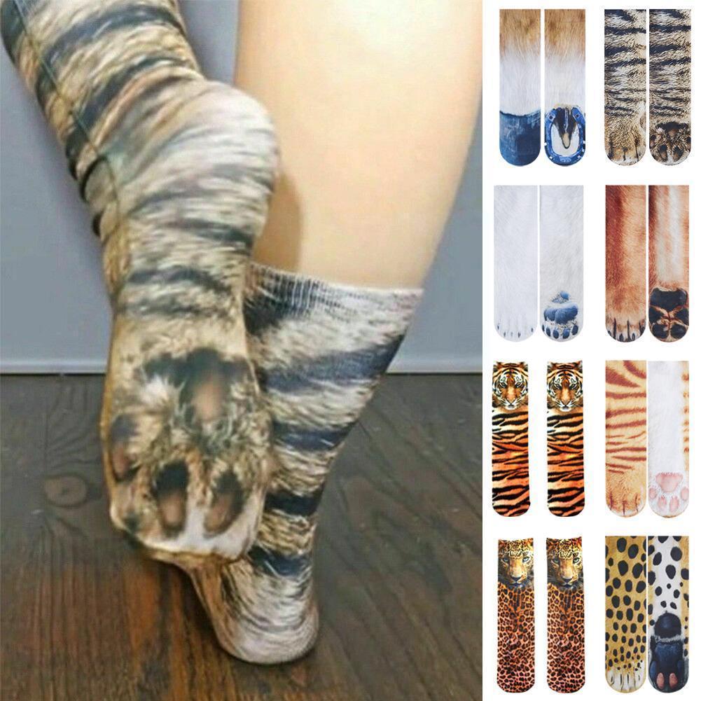 Носки с животным принтом, модные хлопковые носки с 3d Принтом Леопарда, тигра, лошади, короткие высокие носки, женские носки до лодыжки, мужск...