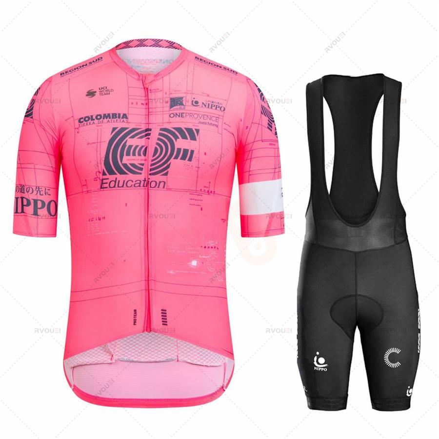 Team EF-Conjunto De Ropa De Ciclismo, Maillot y pantalones cortos para bicicleta...