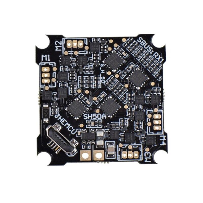 SH50A F4 OSD 2-3S وحدة تحكم في الطيران مع إخراج 5 فولت بيك المدمج في 5A BLheli S 4In1 فرش ESC ل Whoop UAV FPV سباق