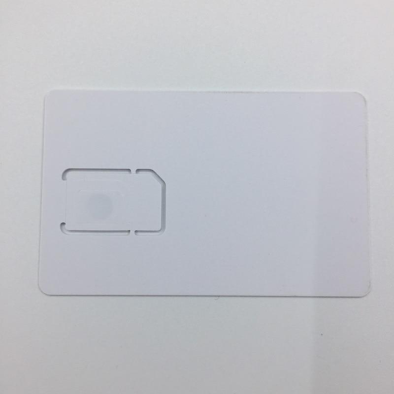 50pcs/lot Writable Programable Blank SIM USIM Card 4G LTE WCDMA GSM Nano Micro SIM Card with Micro Nano Size 2FF 3FF 4FF 3 IN 1 enlarge