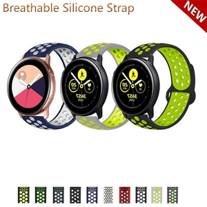 20mm 22mm Silicone Band Strap for Samsung Galaxy Watch Active 2 40mm 44mm for Watch3 41mm Replacement Watchband
