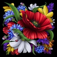 5d diy poured glue diamond painting kits flower plant full round with ab drill embroidery mosaic home decoration unique gift art