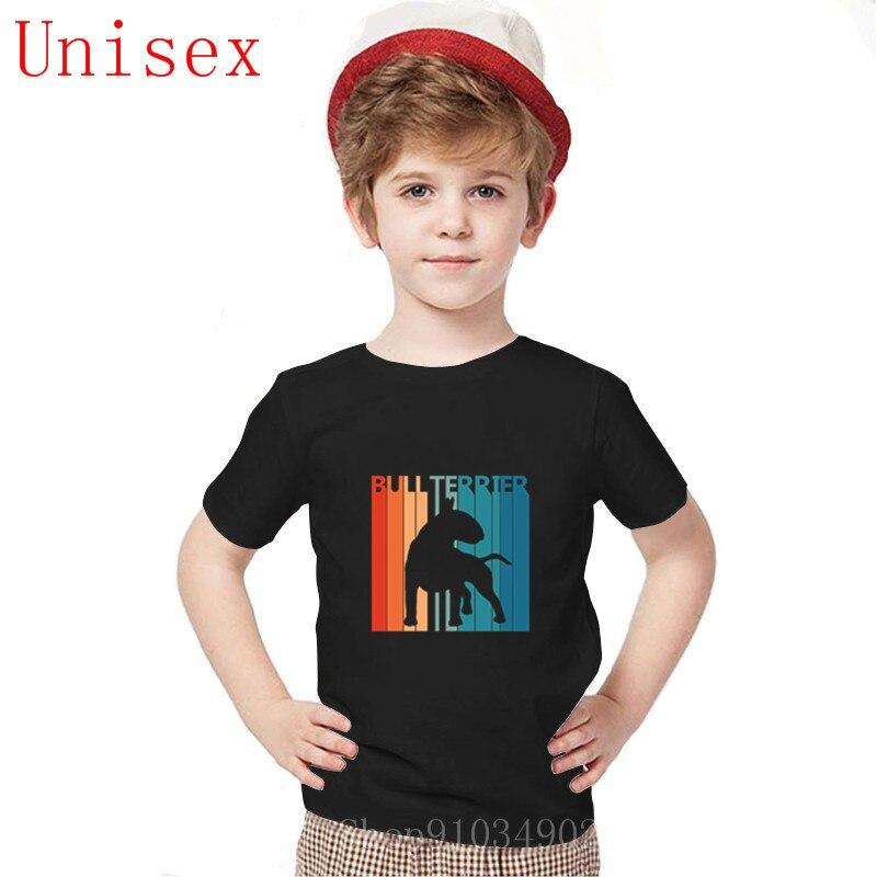 Divertidas camisetas inglesas con perro Bull Terrier para chicas adolescentes camiseta Homme 2020 nuevas mangas Tops banda niños ropa chicas camiseta