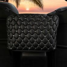 Car Handbag Holder Luxury Leather Seat Back Organizer Capacity Large Mesh Goods Automotive Net Bag S
