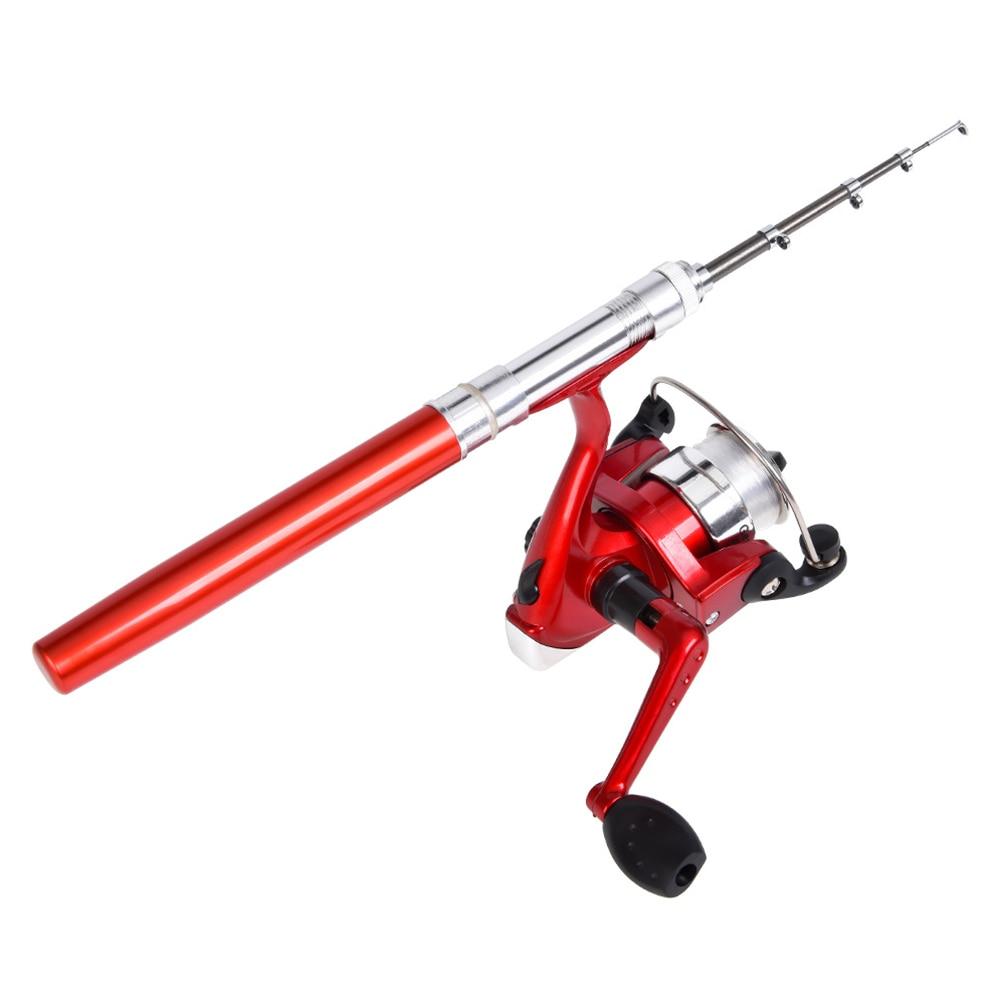 New Portable Outdoor Mini Pocket Telescopic Shaped Alloy Reel Seat Fishing Rods Stand Holder Pen Kastking Ultra Light Rod