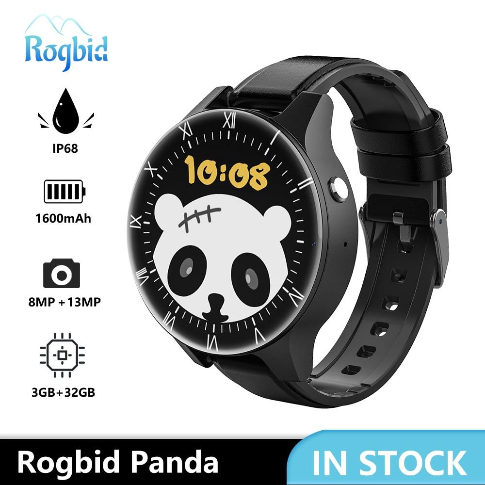 Review Rogbid Panda 4G LTE Smart Watch Phone 2021 3GB 32GB GPS Dual Camera 13MP IP68 5ATM Waterproof Smartwatch Men for Xiaomi Huawei