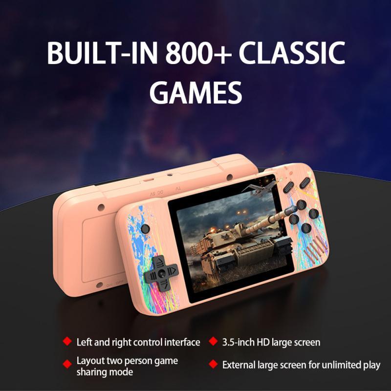 Ретро-консоль для видеоигр, 800 + классических игр, 3,5 дюйма, портативная игровая консоль в ретро стиле, портативная игровая консоль