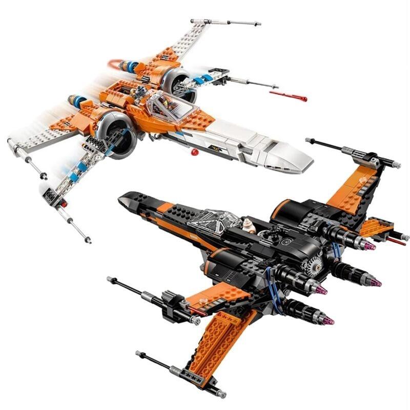 Nuevo juego de corbata con estrellas de StarWars, bloques de construcción con el Plan de la guerra de las galaxias, juguetes para niños 75149, 79102, 75211, 75101