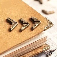 20pcs/lot Book Metal Corner Bronze Tone 15*15*3 mm Album Notebook Diary Planner Corner Protectors