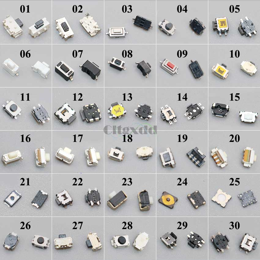 Interruptores táctiles para Samsung S4, Note3, HTC, Nokia, Motorola, botón pulsador Micro,...