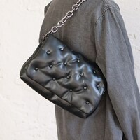 Rivet Luxury Branded Trend Shoulder Bag for Women Chain Denim Armpit Bags Handbags and Purses Women\'s Fashion Trending Hand Bag