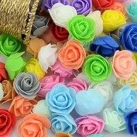 Mini roses en mousse PE  500 pieces  fausses fleurs  faites a la main  pour decoration de maison  de mariage  fournitures de fete