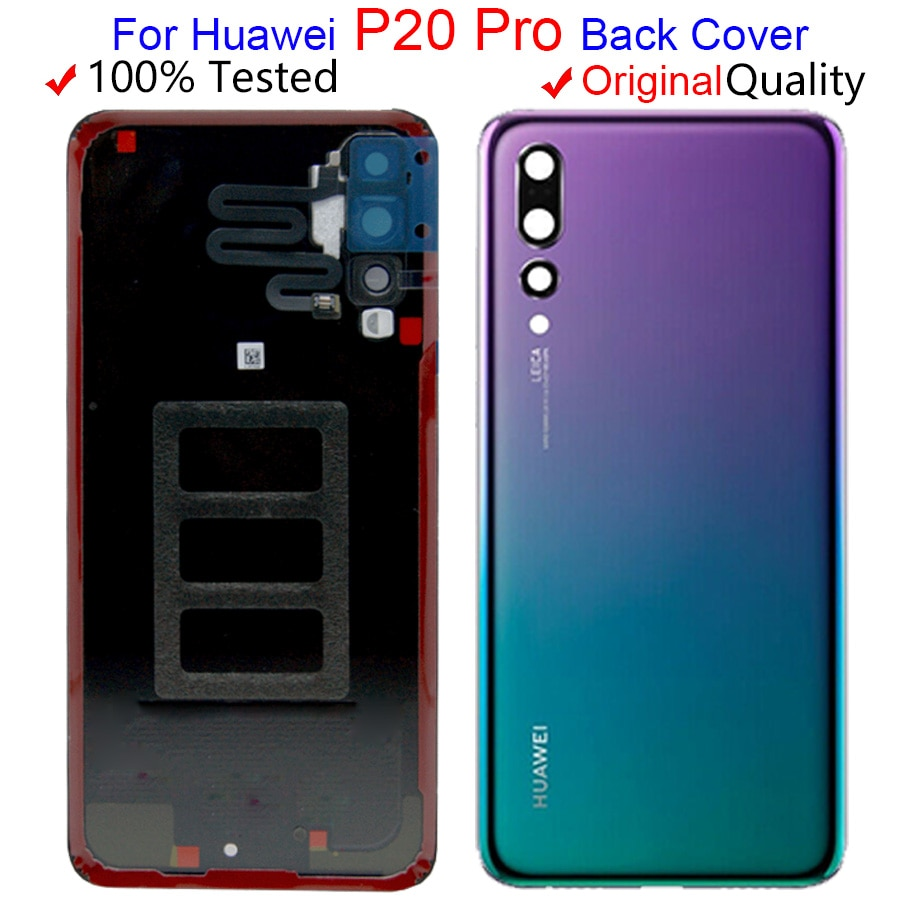 Original New Glass Rear Housing For Huawei P20 Pro Battery Cover Back Case Door P20 Pro Back Cover C
