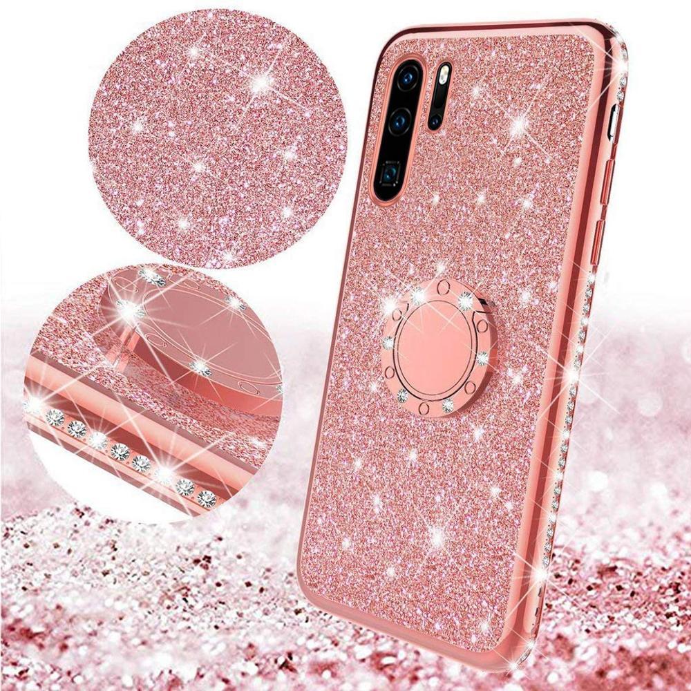 Funda blanda de lujo con purpurina y diamantes para Huawei P40 P30 P20 Pro Y6 Y7 Prime 2019, funda de silicona para Huawei Mate 10 20 Lite