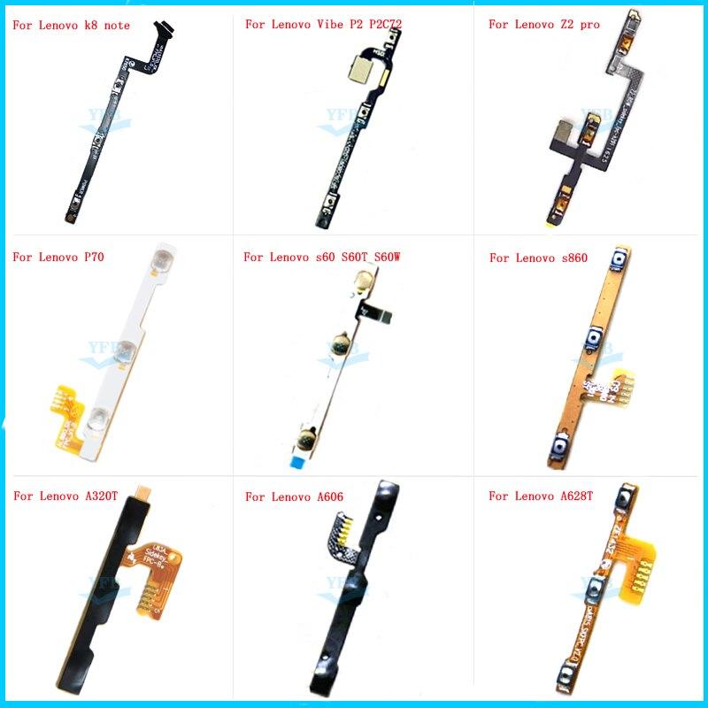 10 Uds. Encendido apagado volumen arriba abajo botón tecla Flex Cable para Lenovo K8 Note p70 Vibe P2 P2C72 ZUK Z2 Pro s60 S60T A320T A628T