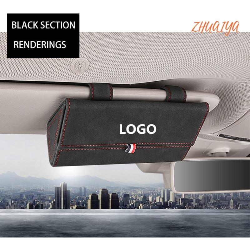 1 Uds gafas soporte coche magnético parasol para coche caso organizador para Mercedes Benz W202 W203 W204 W208 W210 W220 W221