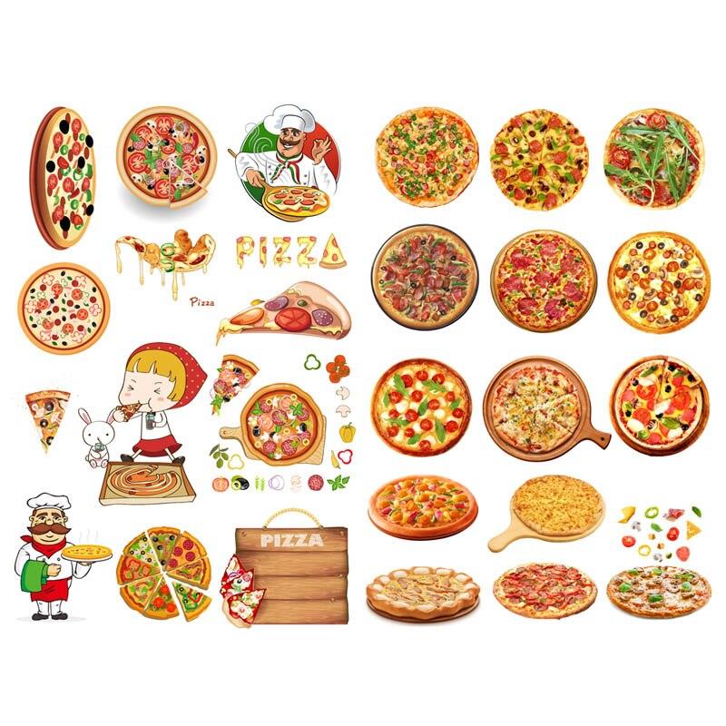 1 Uds ciudad deliciosa Pizza comida papel para álbum de recortes DIY pegatinas Agenda álbum diario pegatina para diario escuela Oficina suministros