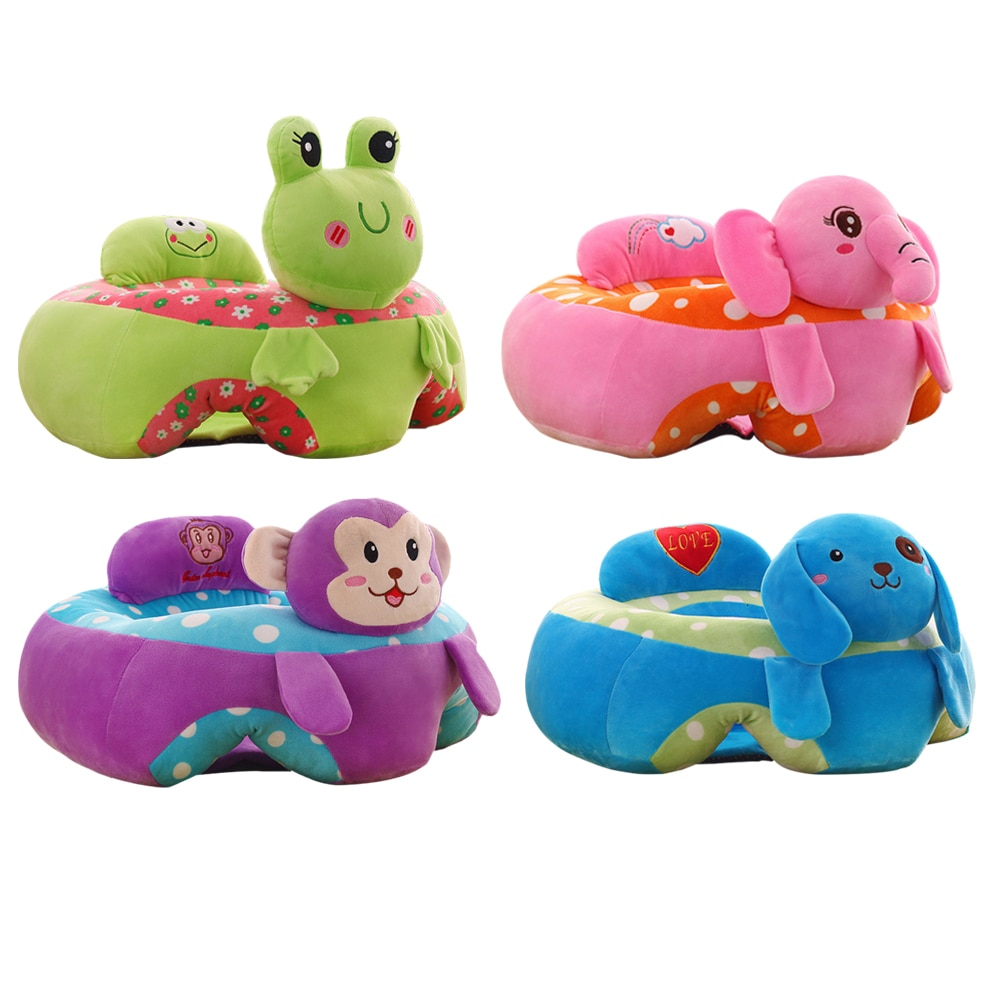 Coloré infantile bébé siège apprentissage assis siège chaise Portable alimentation chaise enfants en peluche bébé canapé enfants en peluche jouet