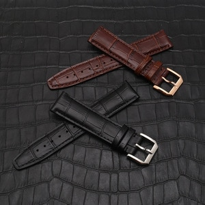 Leather Wristband Strap Stainless Steel Clasp For IWC Portofino Portuguese Pilot Little Prince Watch Accessories