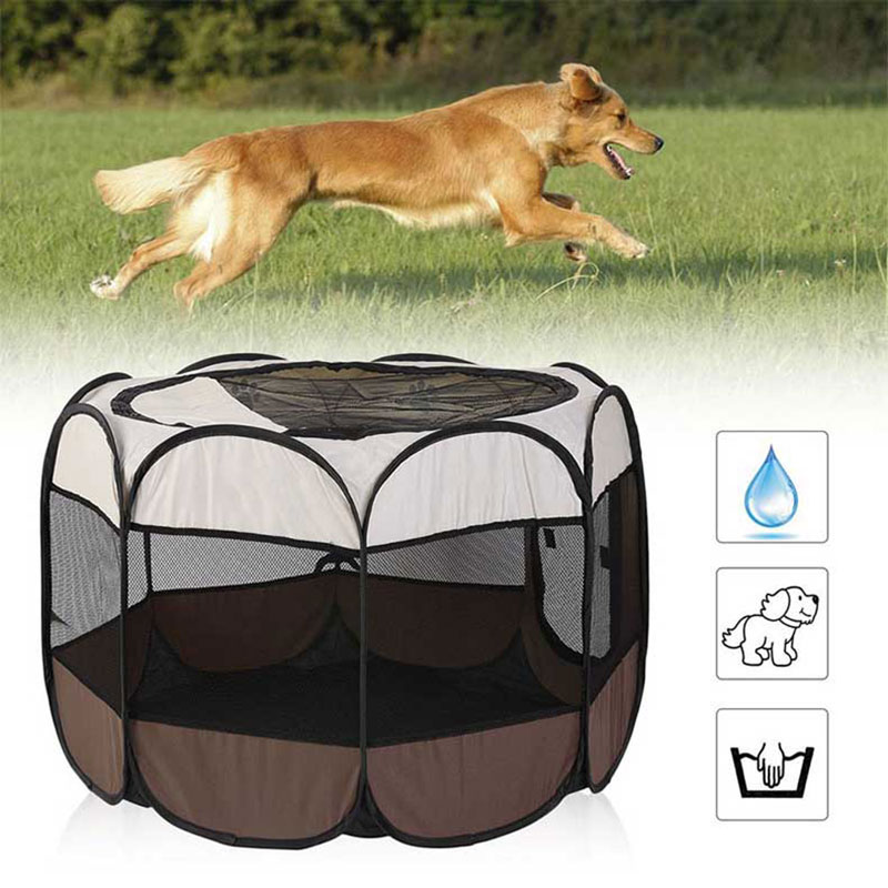 Jaula para perro en exteriores, jaula para mascotas grande y portátil para...