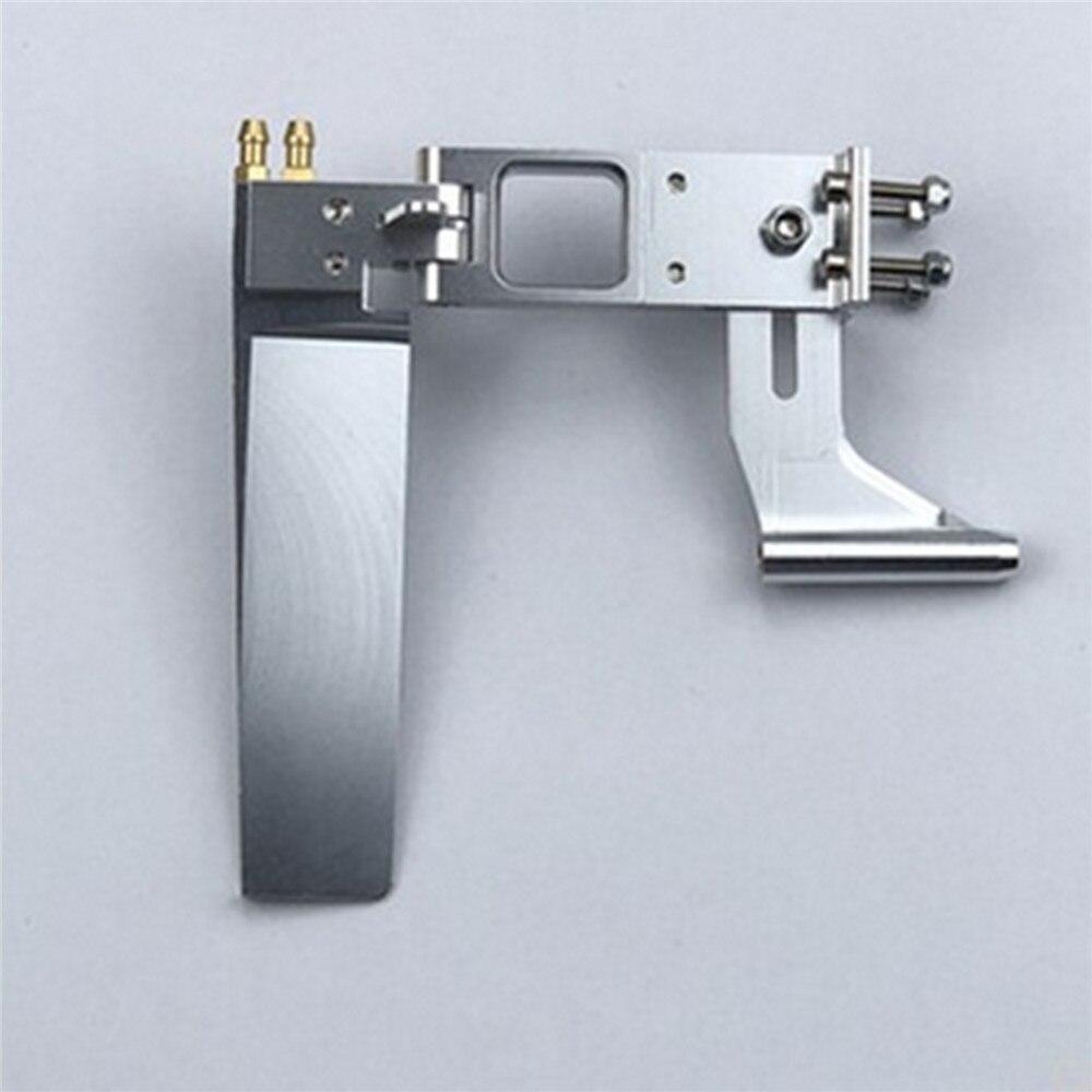 Metal duradero 110MM timón 4MM eje soporte timón Kit de puntal para RC barco modelo Accesorios