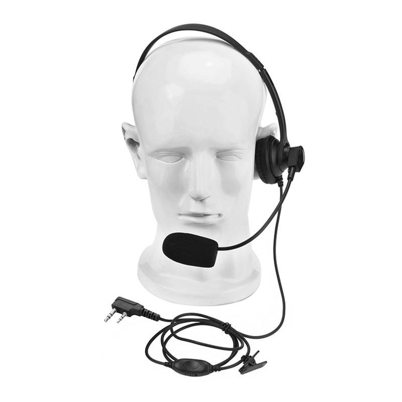 Портативная рация, легкая эргономичная гарнитура для Kenwood HYT Puxing 'd xun Baofeng тактическая головная повязка bf888s tk3300 Radio