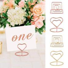 QIFU-décor rustique pour Table de mariage   10 pièces, en métal avec Clip en forme de cœur, décor pour mariage, mariage, mariage, Mr Mrs