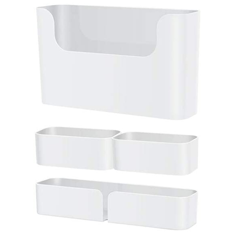 رف عائم ، مثبت على الحائط ، غير حفر ، لاصق ، مقاوم للماء ، علبة دش ، مطبخ (مجموعة من 4)