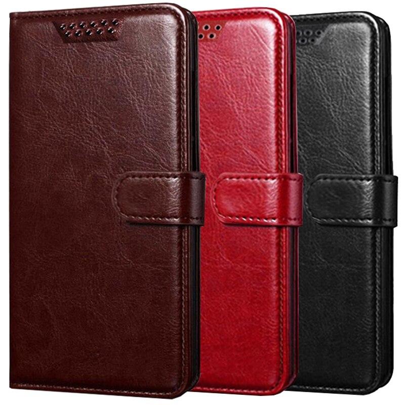 Cuero cartera Flip funda para Nokia tableta amortiguador Tech accesorio beige Rojo...