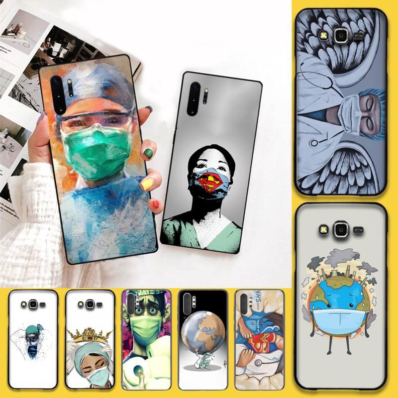 Enfermera reina Doctor King pelear DIY cubierta de caja de teléfono para Samsung Nota 7 8 9 10 Lite Plus Galaxy J7 J8 J6 Plus 2018