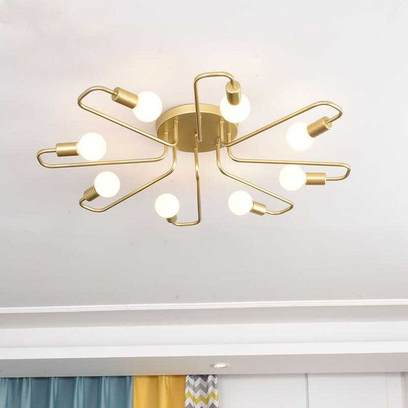 الحديثة المعادن الذهب LED معلقة ضوء slustre غرفة المعيشة فيلا ديكور داخلي قلادة مصباح الإضاءة droتحكم تركيبات المطبخ