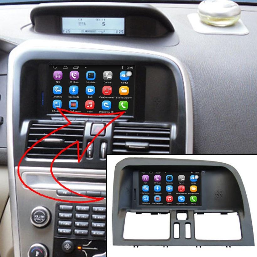 6.2 인치 안 드 로이드 7.1 자동차 GPS 네비게이션 볼 보 XC60 자동차 비디오 플레이어 지원 WiFi 지능형 휴대 전화 미러 링크
