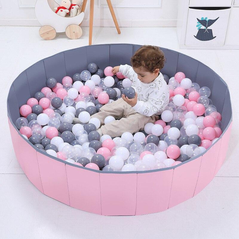 Детский ограждение для безопасности ребенка для шарикового бассейна, складной манеж для детского бассейна из мягкой ткани