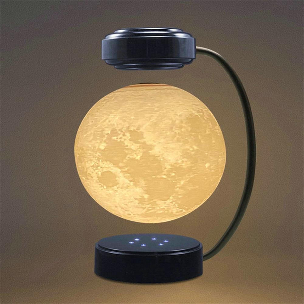 3D LED Moon Night Light Floating Lamp Moon Magnetic Levitation Lamp Novelty Lighting Levitating Light Bedroom Decoration Light enlarge