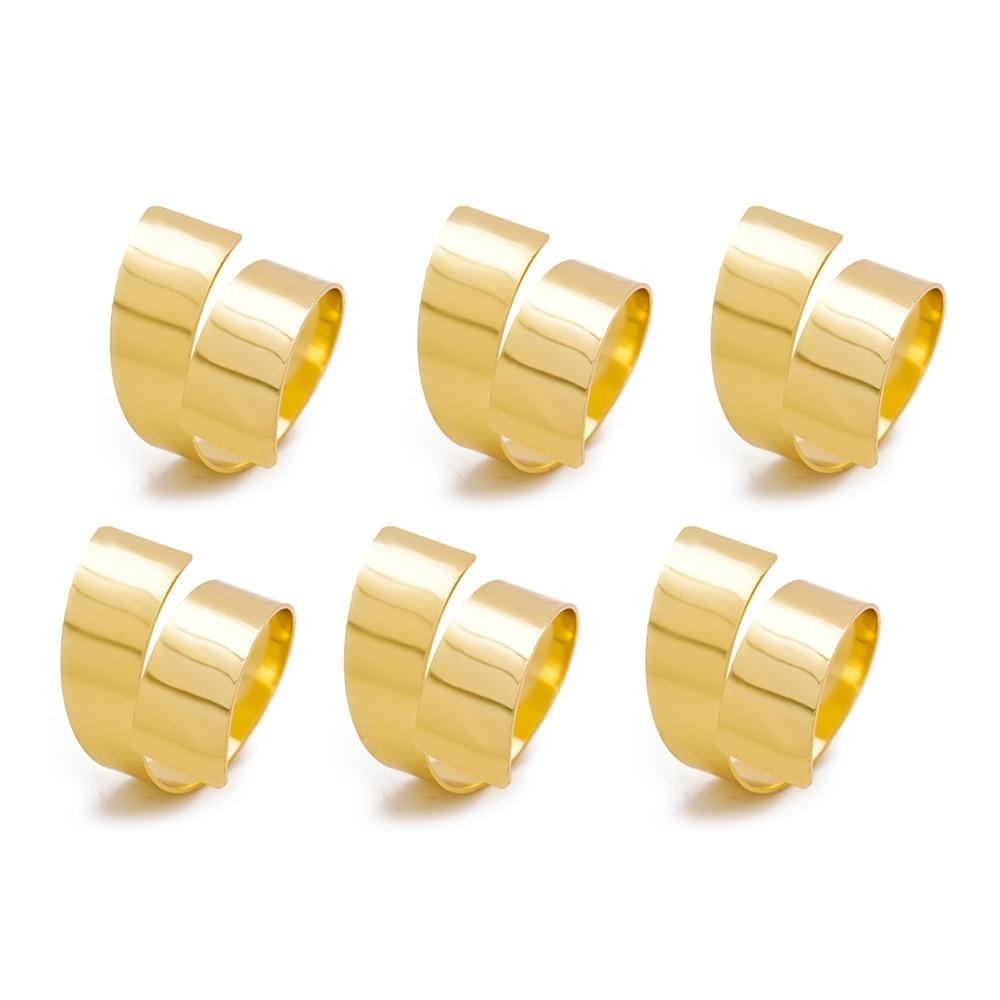 TAI Topo 4 Pçs/set Ouro Anéis de Guardanapo para Festa de Casamento Do Feriado de Metal Ajustável Titular Decoração de Mesa Toalha de Guardanapo Anéis