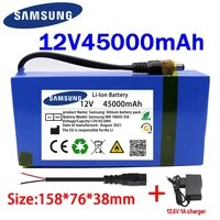 100 new portable 12v 45000mah lithium ion battery pack dc 12 6v 45ah battery with eu plug12 6v1a chargerdc bus head wire